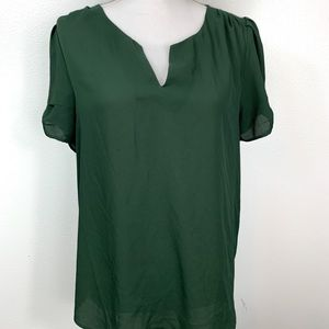 NWOT DR2 Pleated Sleeve Top